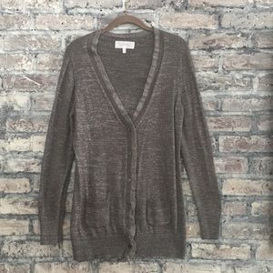 Victoria Secret button down cardigan/silver spark